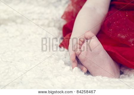 Baby Holding His Foot