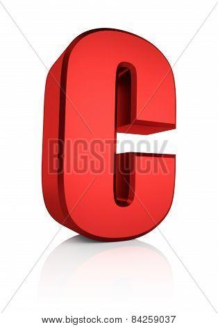 3D Letter C