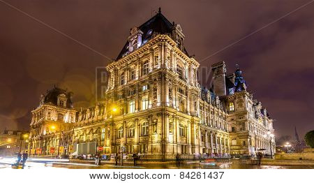 Hotel De Ville (city Hall) Of Paris - France