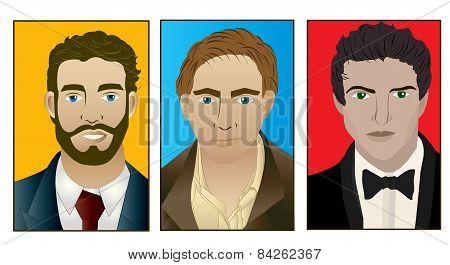 Trio of men