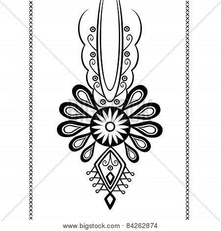 Polish folk tattoo