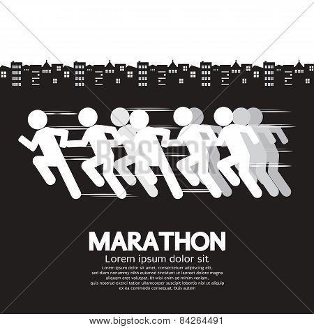 Marathon Runner Sign.
