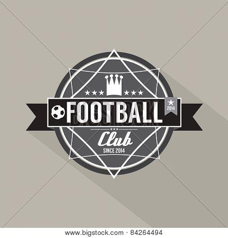 Soccer Or Football Club Label.