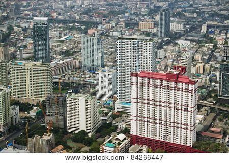 View  with skyscraper. Bangkok. Thailand