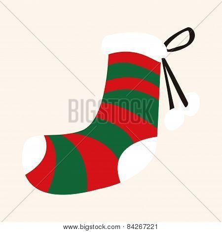 Christmas Decorating Socks Flat Icon Elements Background,eps10