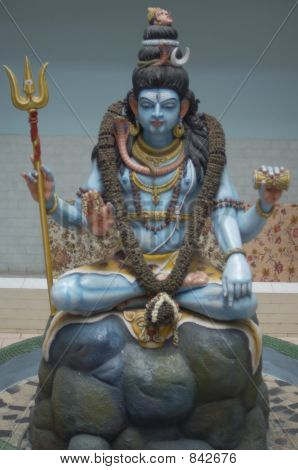 Close-up of a Shiva statue
