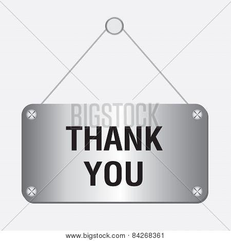 silver metallic thank you