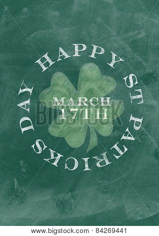 Chalkboard Design For St. Patrick's Day