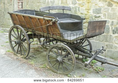 Old Wooden Horse Wagon