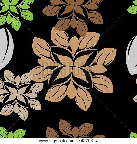 Seamless Floral Pattern Background - Illustration