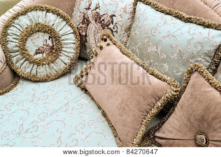 Pillow On Sofa At Home
