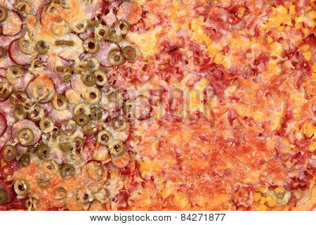 Homemade Pizza Background