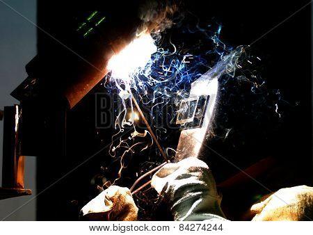 worker-welder manufactures metal design
