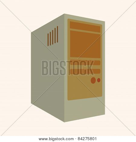 Computer Theme Host Computer Elements Vector