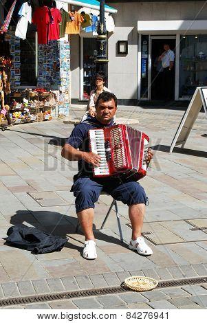 Street busker, Gibraltar.