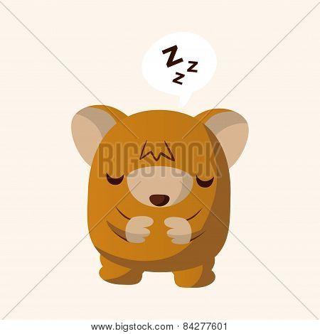 Animal Bear Flat Icon Elements, Eps10