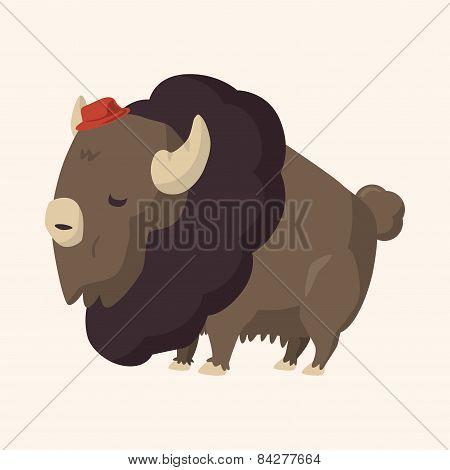 Animal Cattle Flat Icon Elements, Eps10