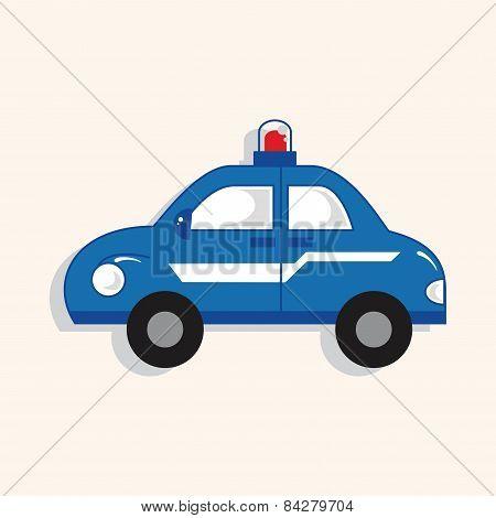Transportation Police Car Theme Elements Vector,eps