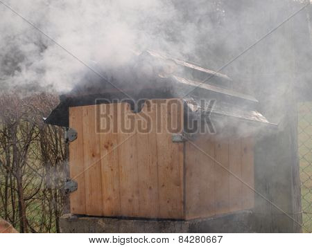 Traditional Rural Smokehouse