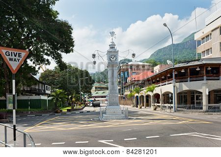 The Clock Tower Of Victoria, Seychelles