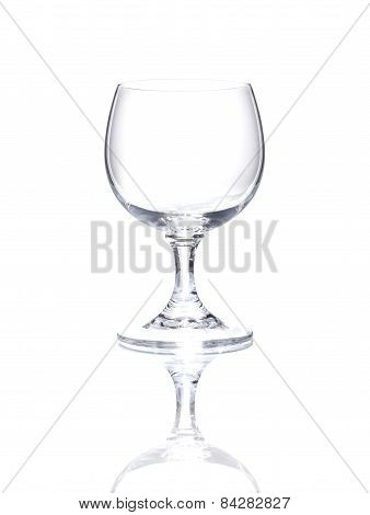 Wineglass Over White Background, Cut Out Empty Glass Beaker