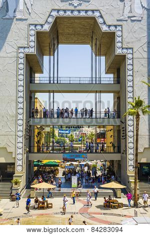 People Visit Hollywood And Highland Center