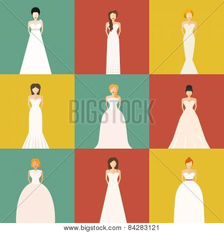 Brids In Wedding Dresses