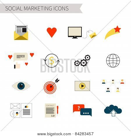 SEO icons big set