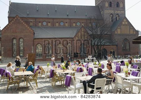 Summer patio alongside to Dome Cathedral