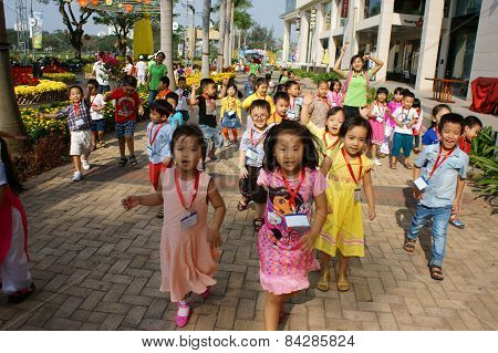 Asian Kid, Outdoor Activity, Vietnamese Preschool Children