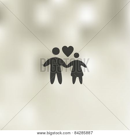family icon on blurred background