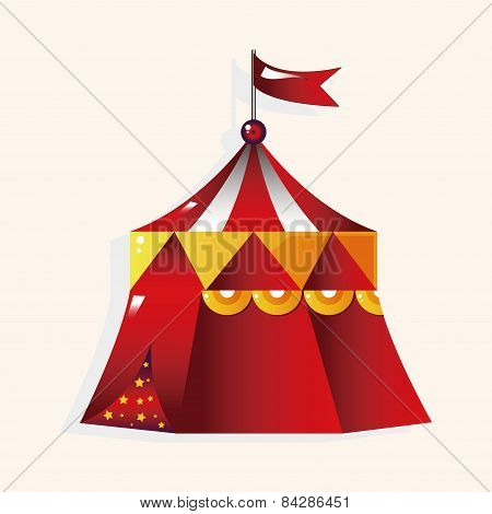 Playground Circus Tent Theme Elements Vector,eps
