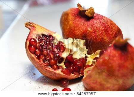 Fresh Juicy Cuted Pomegranate