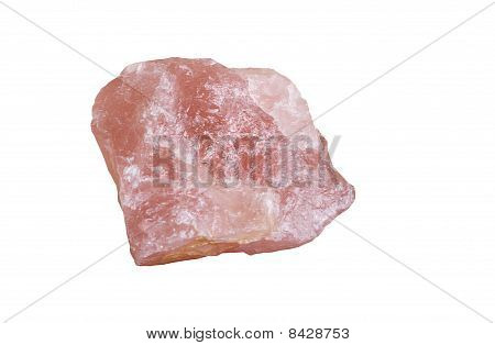 Rose Quartz - Isolated