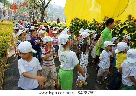 Asian Kid, Outdoor Activity, Vietnamese Preschool Children