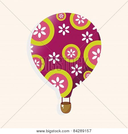 Style Hot Air Ballon Theme Elements Vector,eps