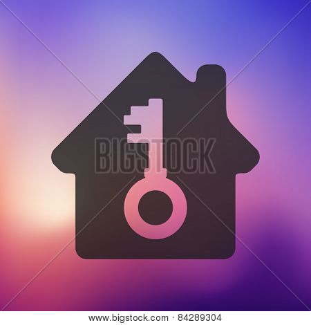 house icon on blurred background