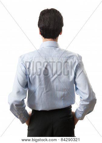 Portrait Of A Businessman Back View