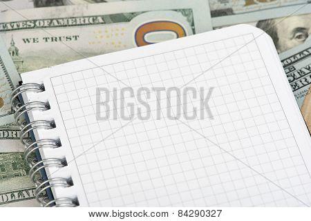 Notepad On Money
