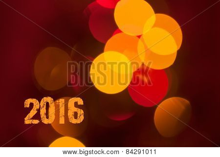 Background With Real Bokeh For New 2016