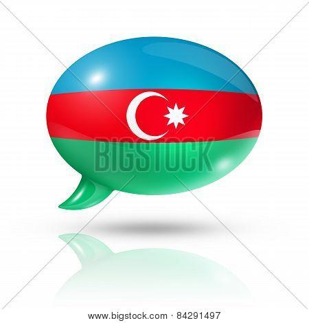 Azerbaijani Flag Speech Bubble