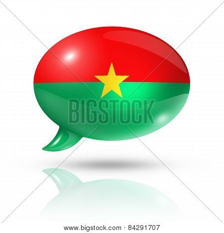 Burkina Faso Flag Speech Bubble