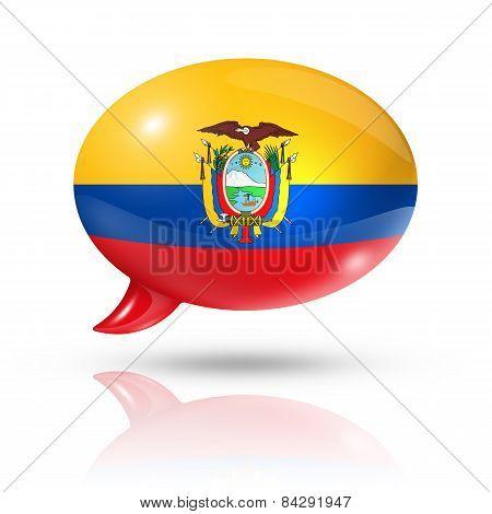 Ecuadorian Flag Speech Bubble