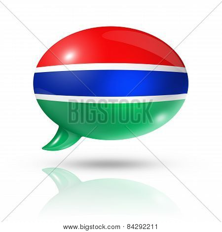 Gambian Flag Speech Bubble
