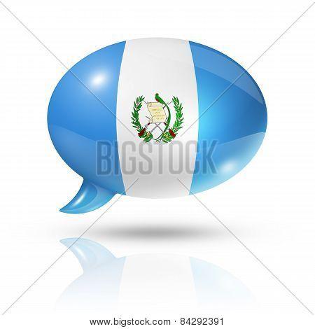 Guatemalan Flag Speech Bubble