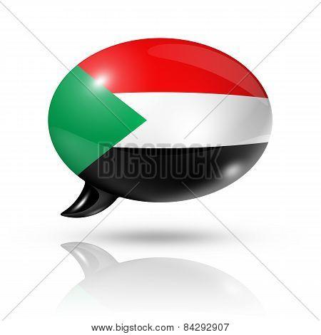 Sudanese Flag Speech Bubble