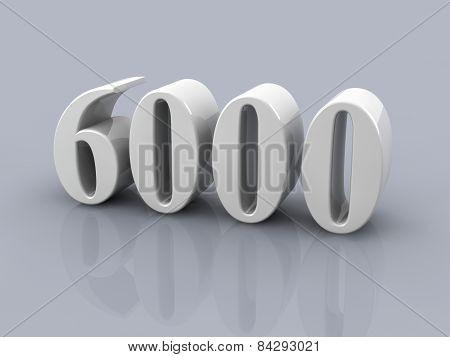 Number 6000
