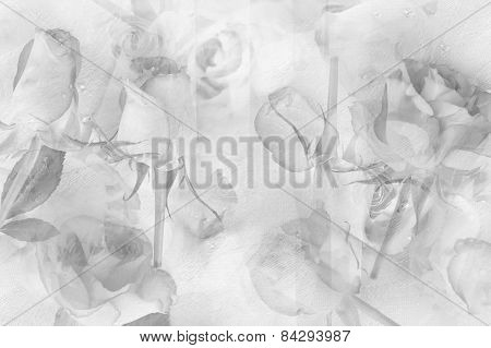 Pretty Abstract Rosy Background In Grey