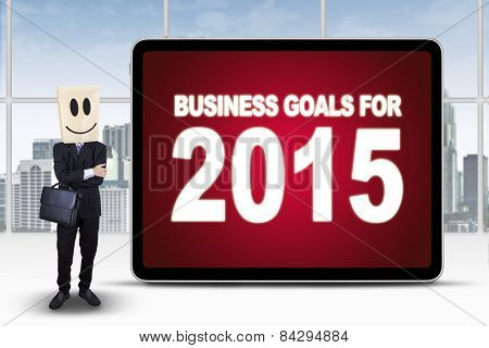 Successful Person With Business Goals For 2015