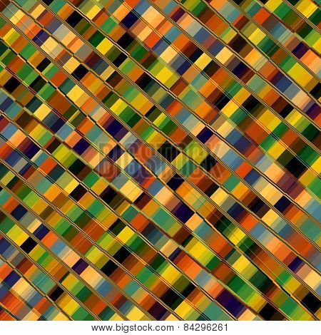 Optical illusion mosaic. Parallel lines. Abstract geometric background pattern. Colorful stripes.